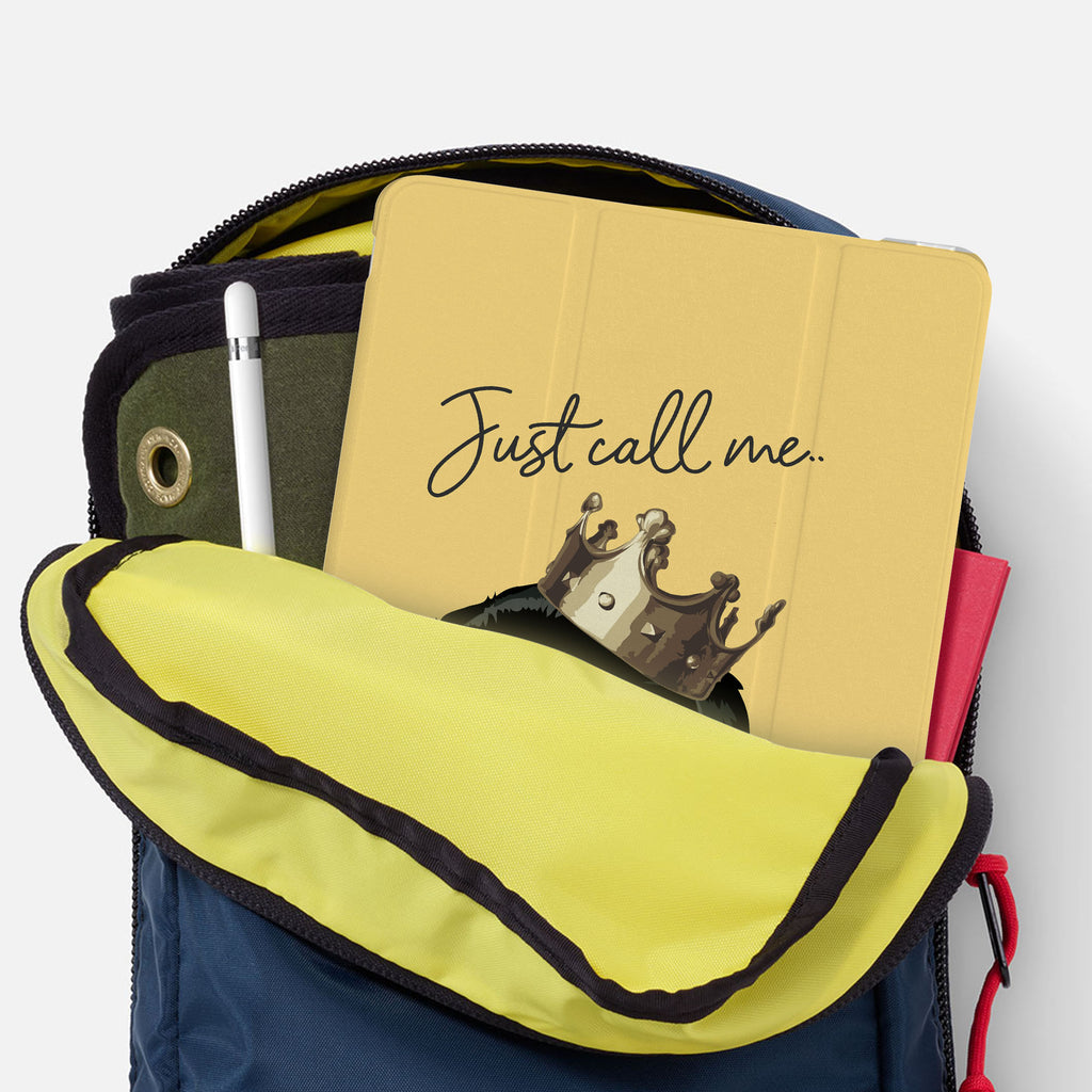 iPad SeeThru Casd with Dog Fun Design has Secure closure