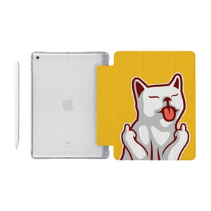 iPad SeeThru Casd with Cat Fun Design Fully compatible with the Apple Pencil