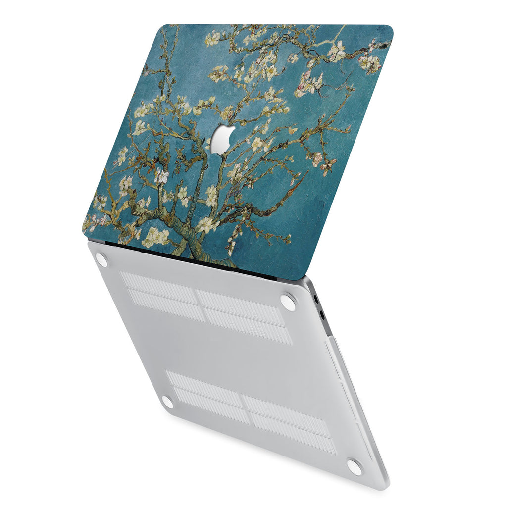 hardshell case with Oil Painting design has rubberized feet that keeps your MacBook from sliding on smooth surfaces