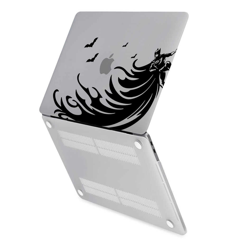 hardshell case with Super Hero design has rubberized feet that keeps your MacBook from sliding on smooth surfaces