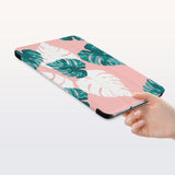 a hand is holding the Personalized Samsung Galaxy Tab Case with Pink Flower 2 design