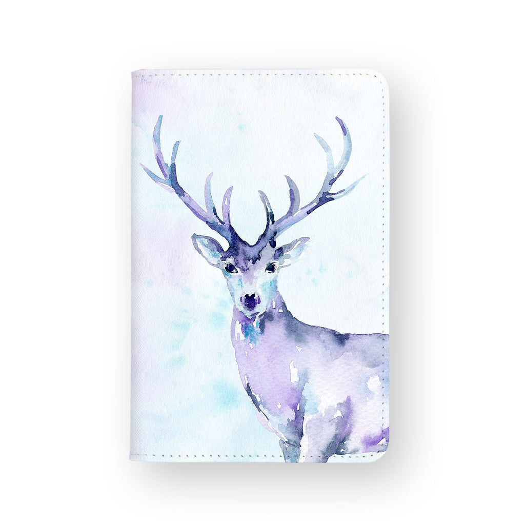 front view of personalized RFID blocking passport travel wallet with Watercolour design