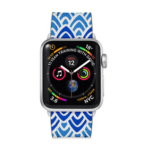 Our Printed Leather Apple Watch Band with Art 2 design are made of water- and scratch-resistant saffiano leather because we know you wear your apple watch every, single, day. - swap