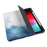 personalized iPad case with pencil holder and Abstract Ink Painting design - swap