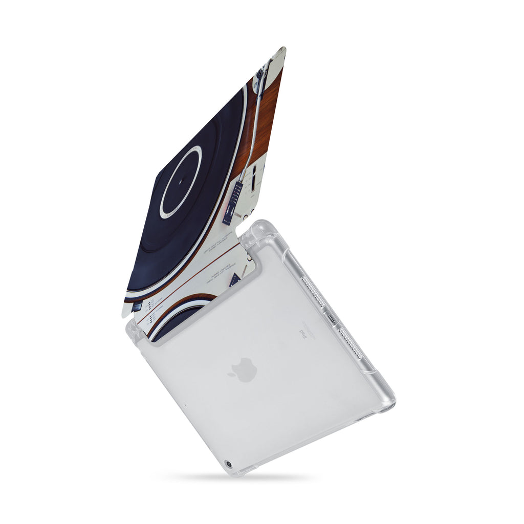 iPad SeeThru Casd with Retro Vintage Design  Drop-tested by 3rd party labs to ensure 4-feet drop protection