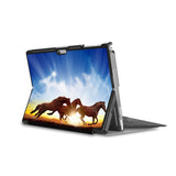 the back side of Personalized Microsoft Surface Pro and Go Case in Movie Stand View with Horse design - swap
