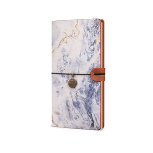 Traveler's Notebook - Marble-the side view of midori style traveler's notebook - swap