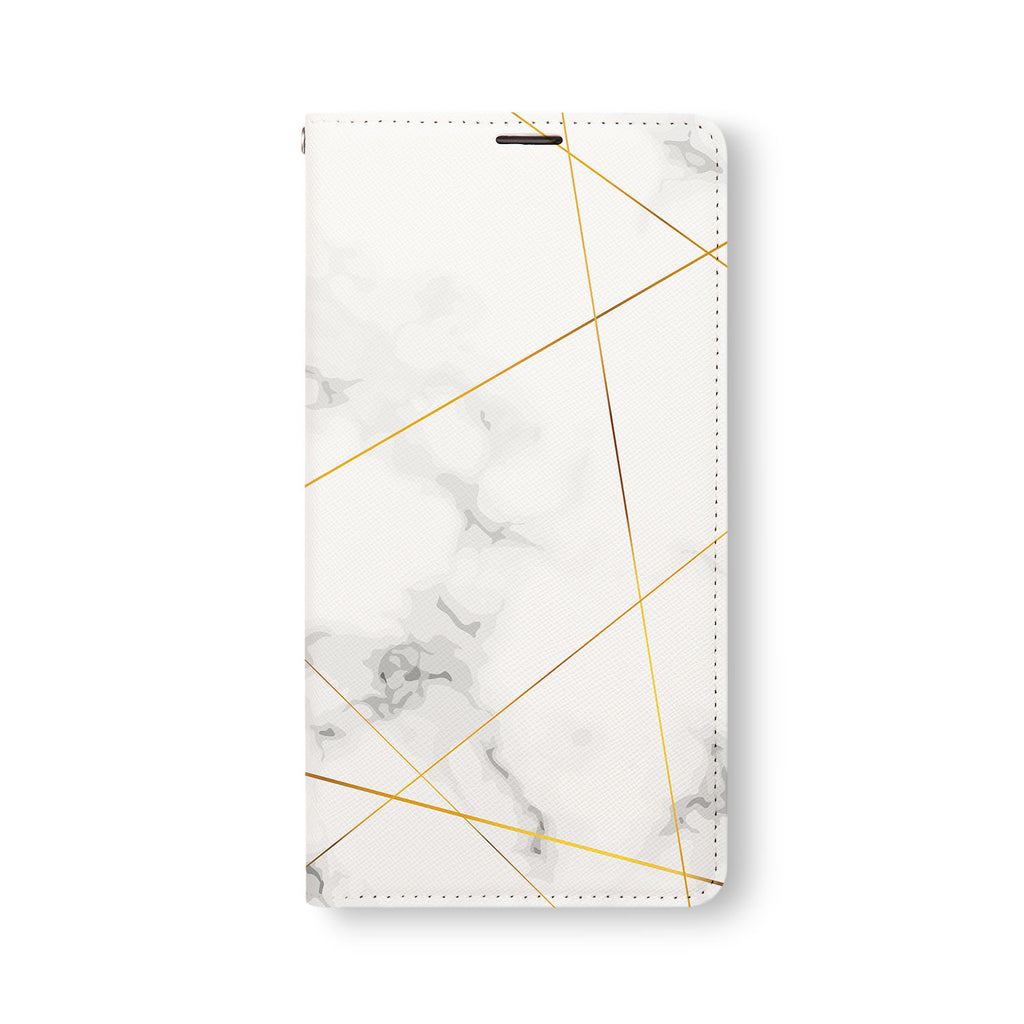 Front Side of Personalized Samsung Galaxy Wallet Case with Marble 2020 design