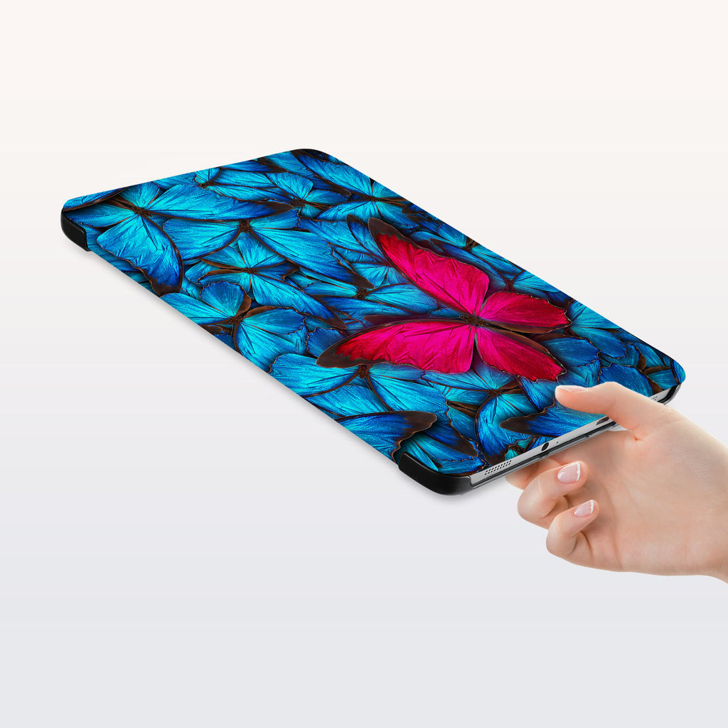 a hand is holding the Personalized Samsung Galaxy Tab Case with Butterfly design