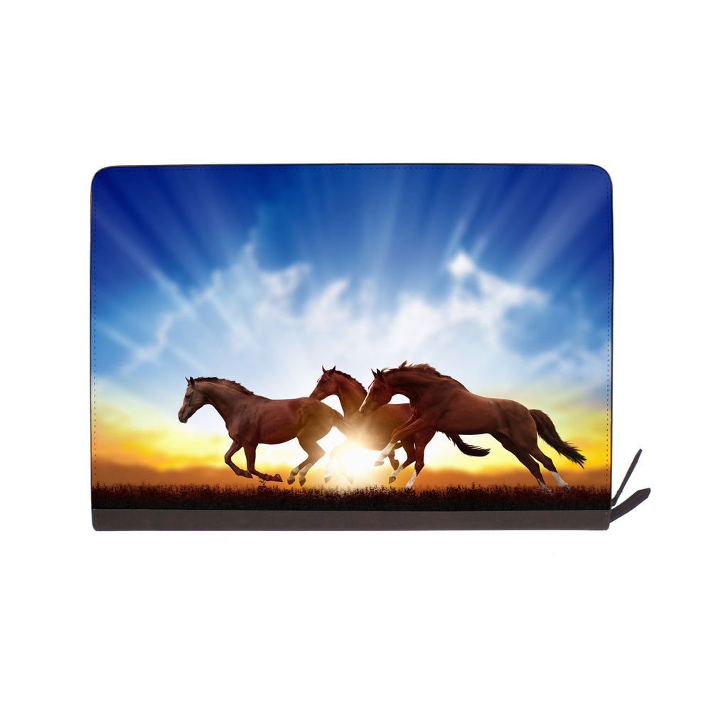 front view of personalized Macbook carry bag case with Horse design