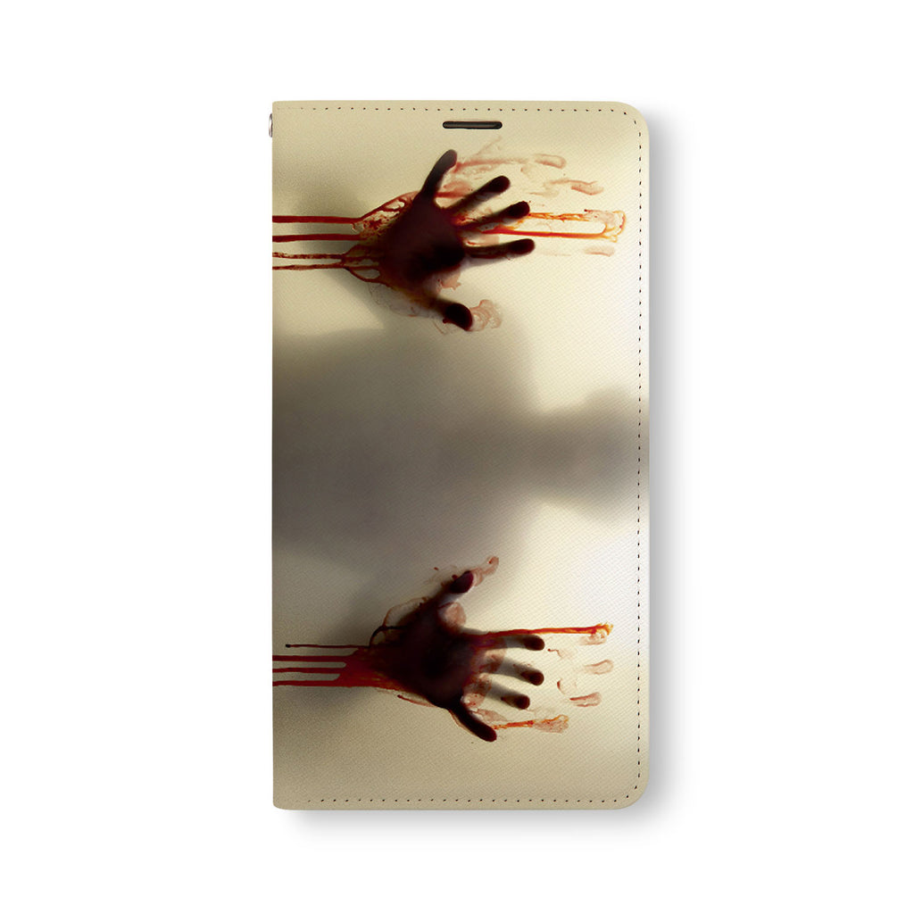 Front Side of Personalized Samsung Galaxy Wallet Case with Horror design