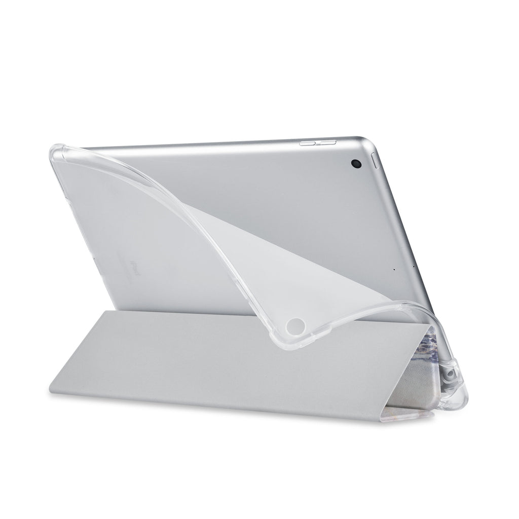Balance iPad SeeThru Casd with Marble Design has a soft edge-to-edge liner that guards your iPad against scratches.