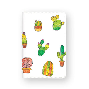front view of personalized RFID blocking passport travel wallet with Plants Enjoyillustration design