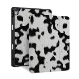 front and back view of personalized iPad case with pencil holder and Animal Skin design