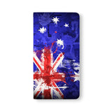 Front Side of Personalized Samsung Galaxy Wallet Case with NationalFlag design