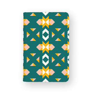 front view of personalized RFID blocking passport travel wallet with Geometry design