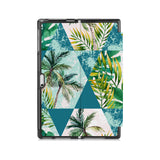 the back side of Personalized Microsoft Surface Pro and Go Case with Tropical Leaves design