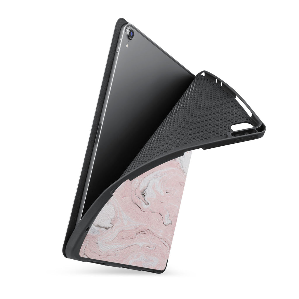 soft tpu back case with personalized iPad case with Pink Marble design