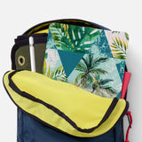 iPad SeeThru Casd with Tropical Leaves Design has Secure closure