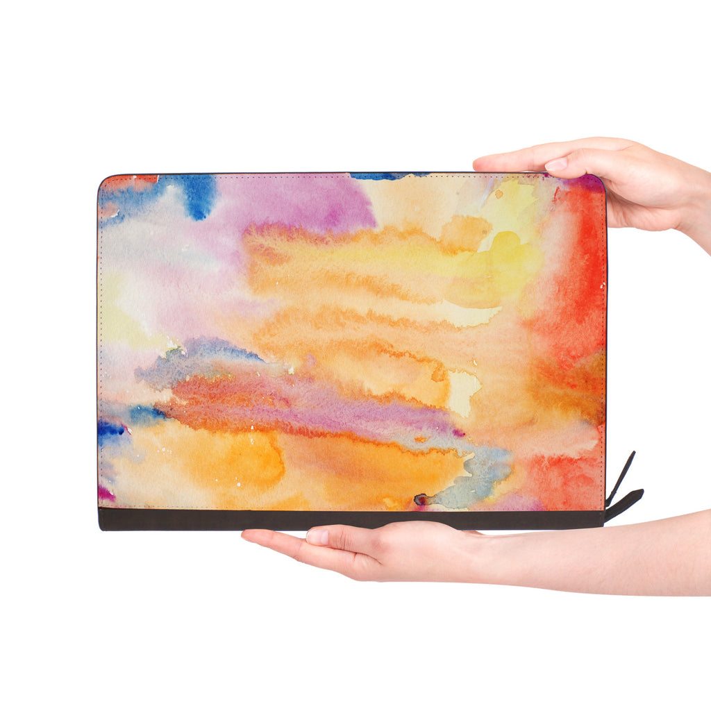macbook air inside of personalized Macbook carry bag case with Splash design
