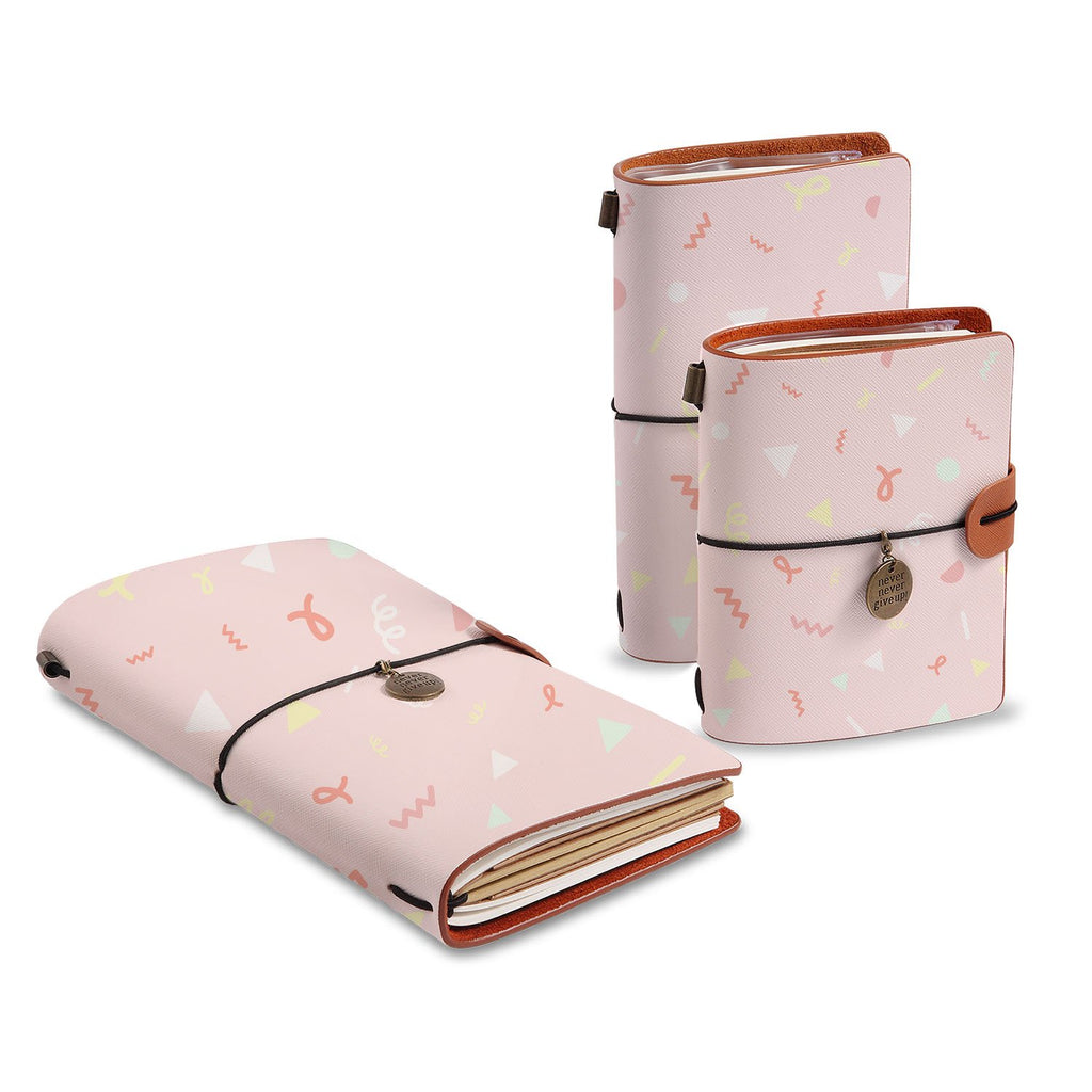 three size of midori style traveler's notebooks with Baby design