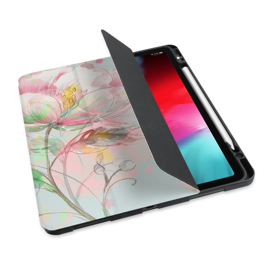 personalized iPad case with pencil holder and Fresh design