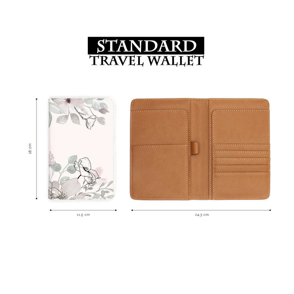 standard size of personalized RFID blocking passport travel wallet with Blooming Spring design