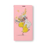 Front Side of Personalized Samsung Galaxy Wallet Case with DuckTang design
