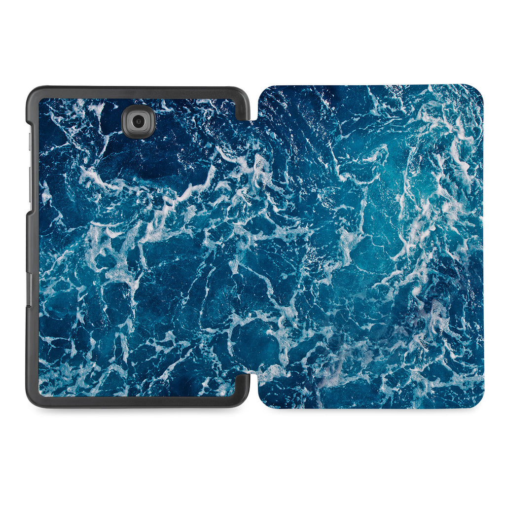 the whole printed area of Personalized Samsung Galaxy Tab Case with Ocean design