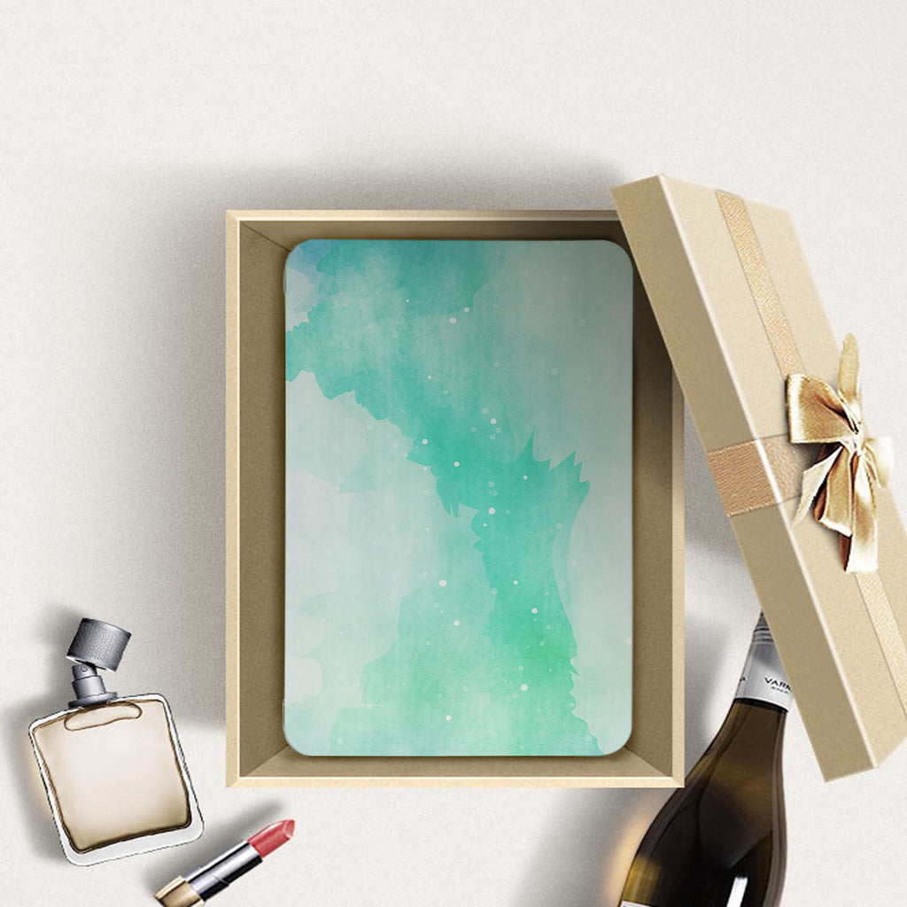 Personalized Samsung Galaxy Tab Case with Abstract Watercolor Splash design in a gift box