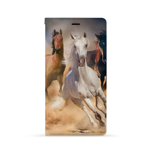 Front Side of Personalized Huawei Wallet Case with Horse design