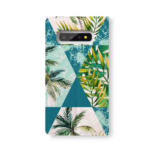 Back Side of Personalized Samsung Galaxy Wallet Case with GeometricFlower design - swap