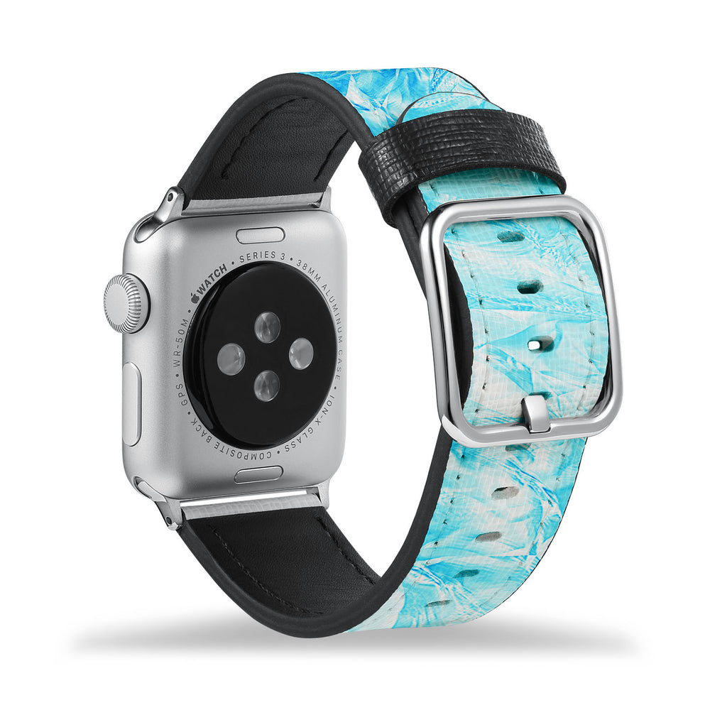 Printed Leather Apple Watch Band with Ice Pattern design Like all Apple Watch bands, you can match this band with any Apple Watch case of the same size