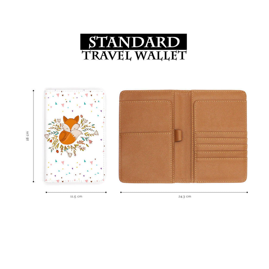 standard size of personalized RFID blocking passport travel wallet with Fox Red design