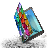 the drop protection feature of Personalized Samsung Galaxy Tab Case with Science design