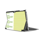 the back side of Personalized Microsoft Surface Pro and Go Case in Movie Stand View with Cute Animal 2 design - swap