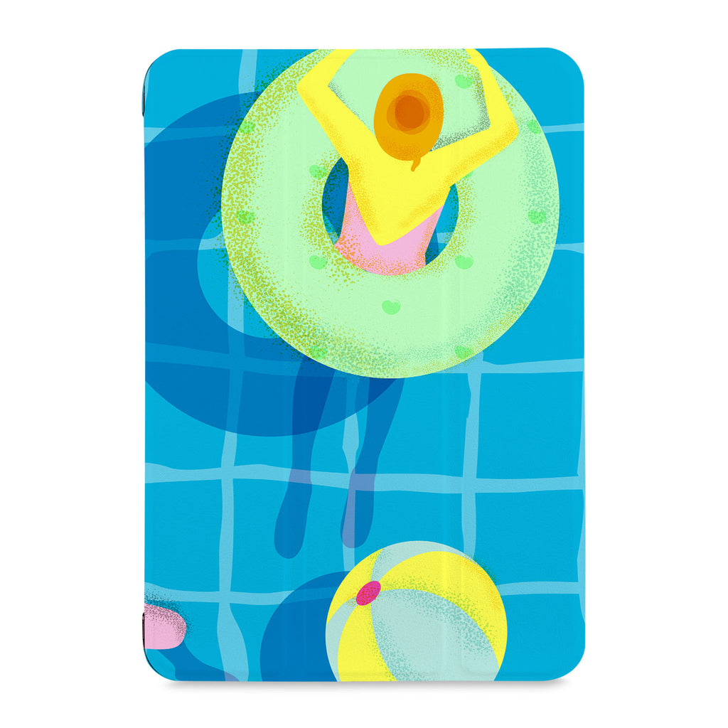 the front view of Personalized Samsung Galaxy Tab Case with Beach design