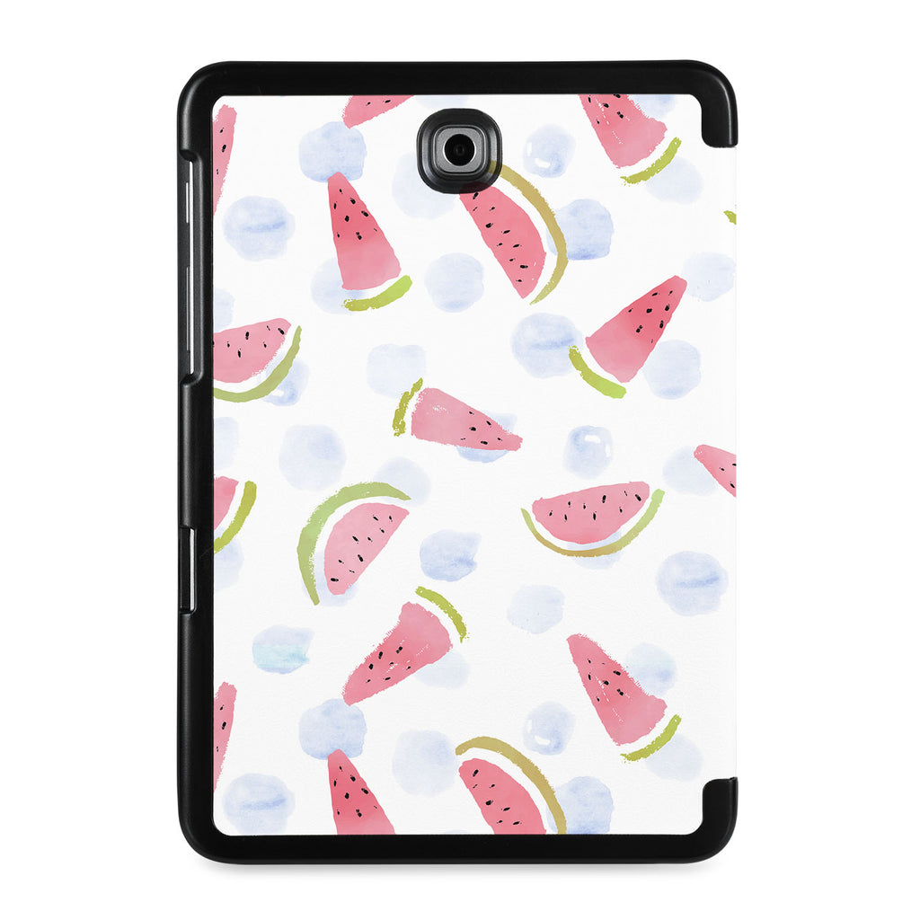 the back view of Personalized Samsung Galaxy Tab Case with Fruit Red design