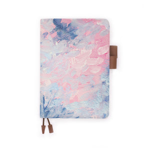 the front view of papermarker's diary with Oil Painting Abstract pattern