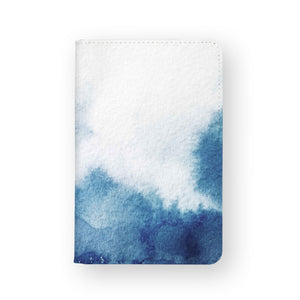 front view of personalized RFID blocking passport travel wallet with Abstract Ink Painting design