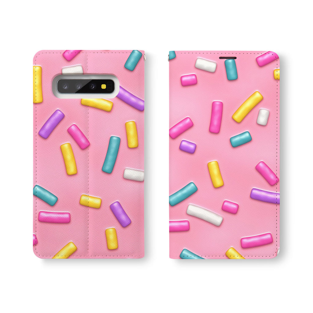 Personalized Samsung Galaxy Wallet Case with Candy desig marries a wallet with an Samsung case, combining two of your must-have items into one brilliant design Wallet Case.