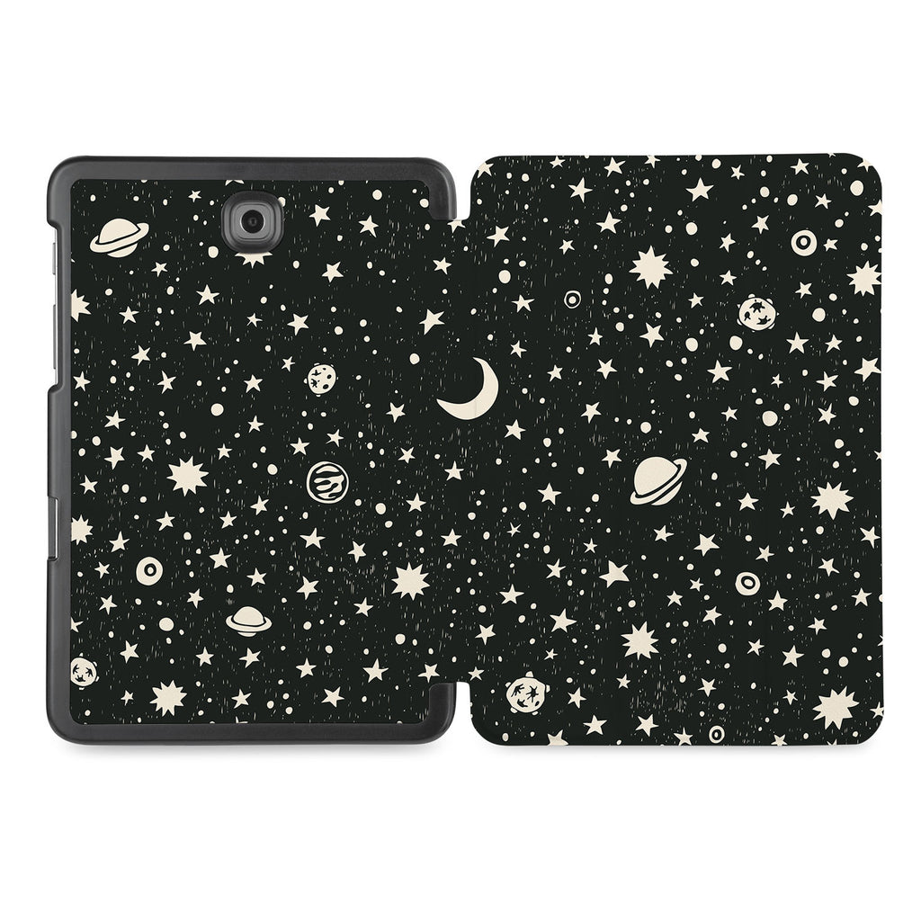 the whole printed area of Personalized Samsung Galaxy Tab Case with Space design
