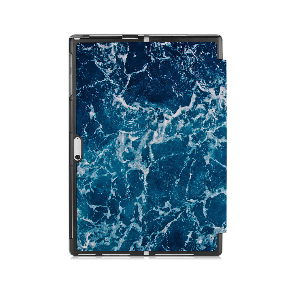 the back side of Personalized Microsoft Surface Pro and Go Case with Ocean design
