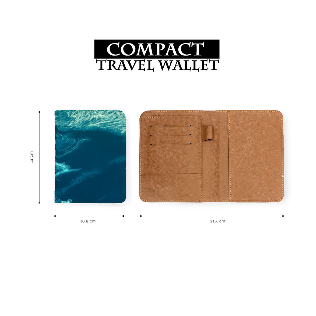 compact size of personalized RFID blocking passport travel wallet with Earth design