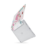 iPad SeeThru Casd with Flamingo Design  Drop-tested by 3rd party labs to ensure 4-feet drop protection