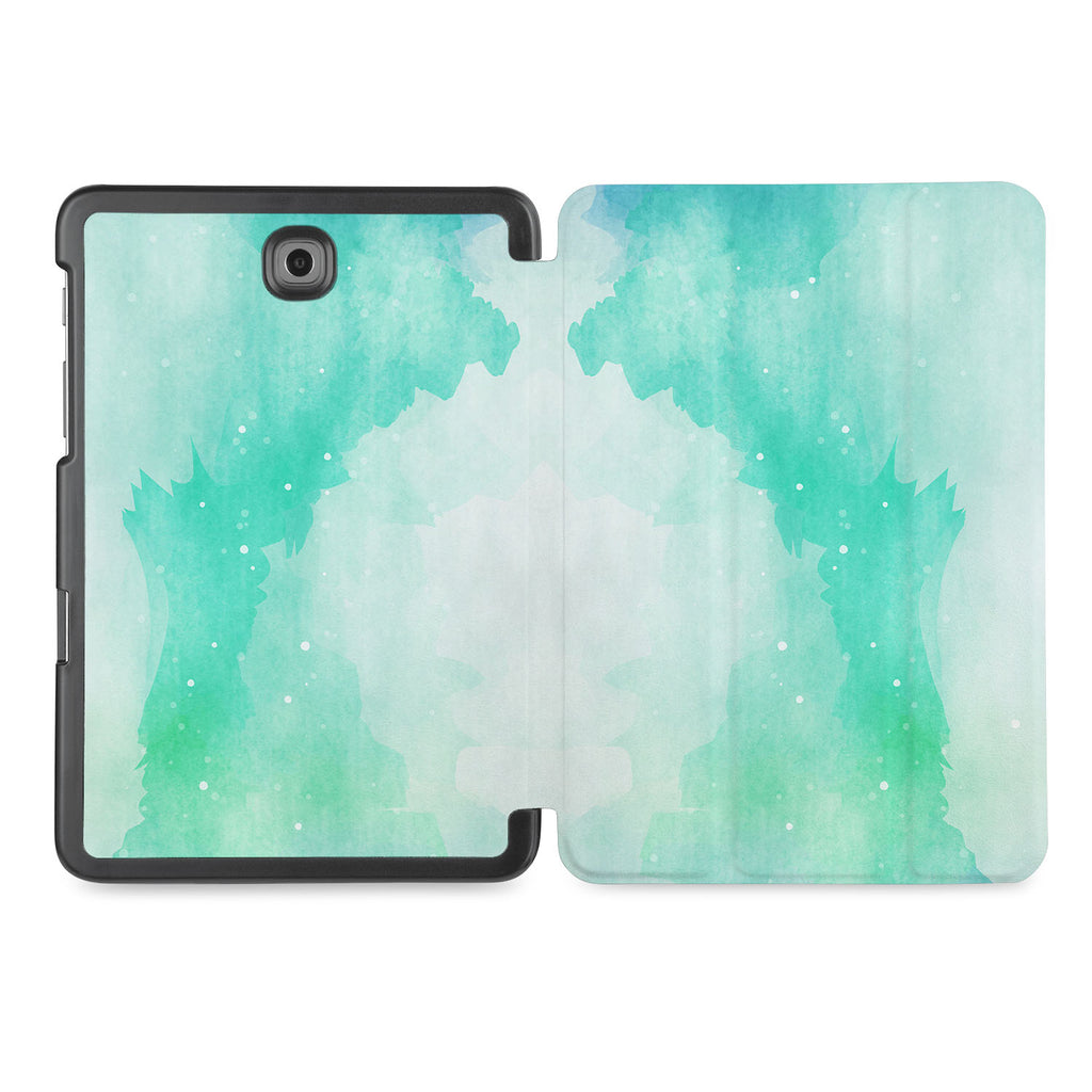 the whole printed area of Personalized Samsung Galaxy Tab Case with Abstract Watercolor Splash design