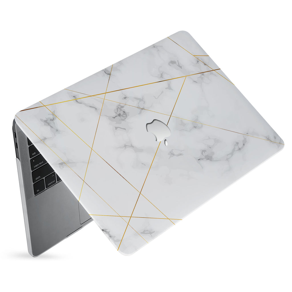 hardshell case with Marble 2020 design has matte finish resists scratches