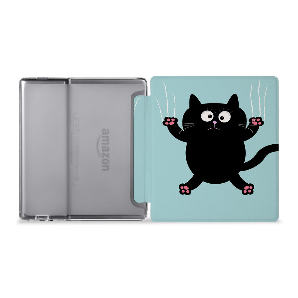 The whole view of Personalized Kindle Oasis Case with Cat Kitty design
