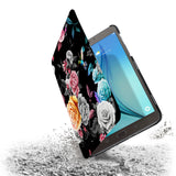 the drop protection feature of Personalized Samsung Galaxy Tab Case with Black Flower design