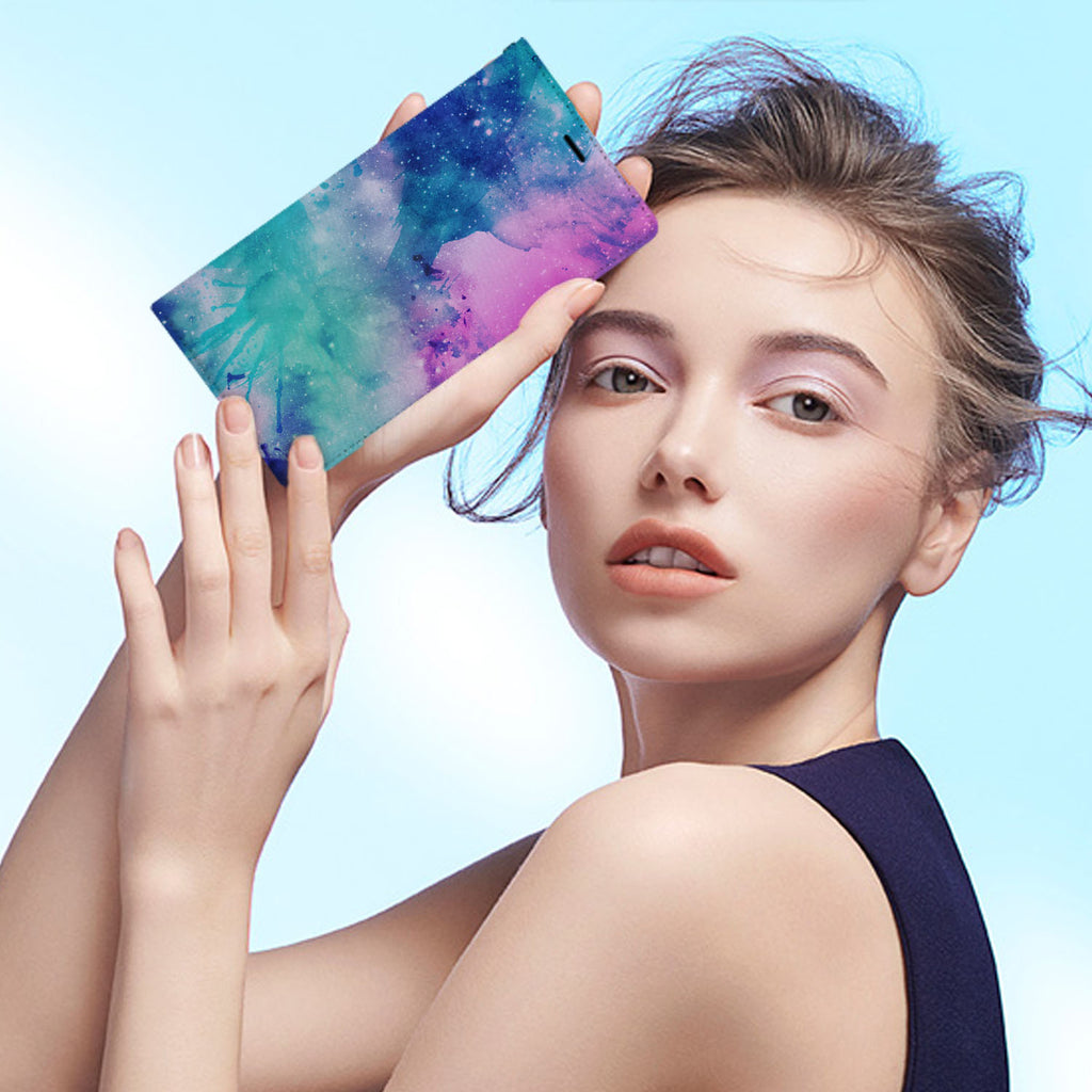 Personalized iPhone Wallet Case with Galaxy desig marries a wallet with an Samsung case, combining two of your must-have items into one brilliant design Wallet Case.